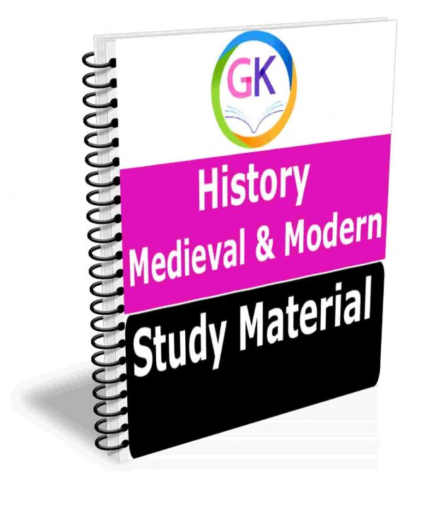 Medieval & Modern History Study Material Book Best Notes