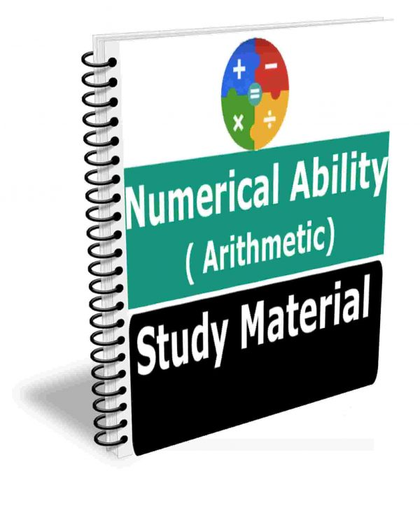 Numerical Ability( Arithmetic) Study Material Book Best Notes