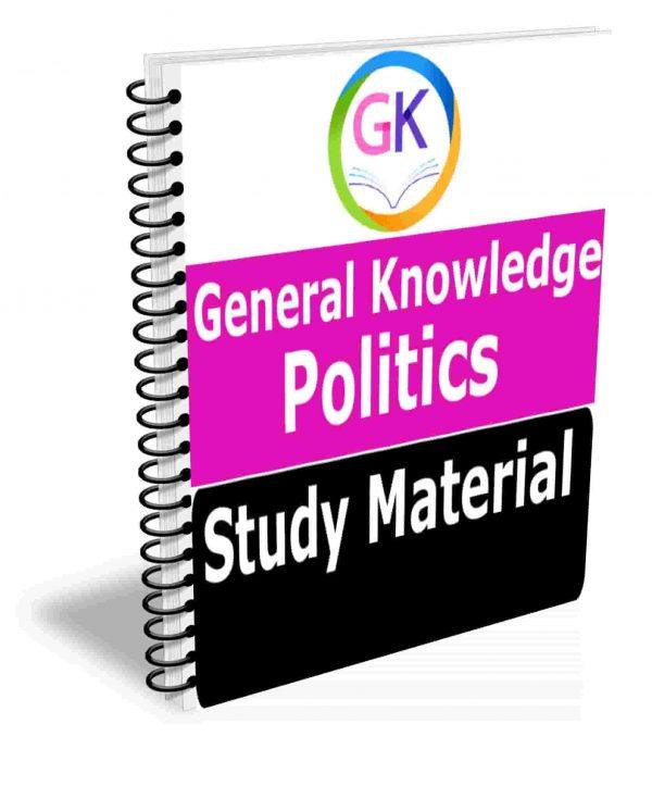 PoliticsGK & GS Study Materials Book The Best Notes All Topics