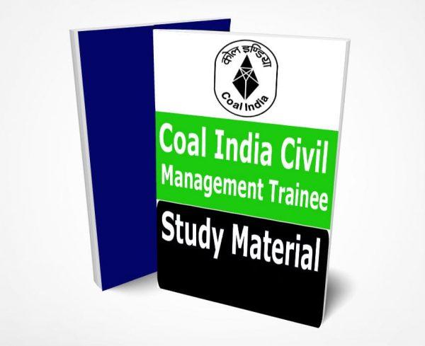 Coal India Civil Management Trainee Study Material Book Notes CIL MT