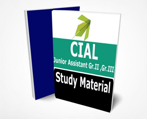 CIAL Junior Assistant Study Material Notes -Buy Online Full Syllabus Text Book Gr.II & Gr.III