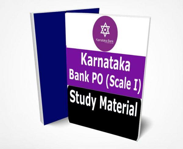 Karnataka Bank PO Study Material Notes(Probationary Officers)(Scale I)