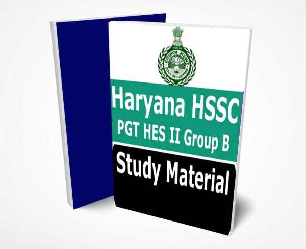 HSSC PGT Study Material Notes -Buy Online Full Syllabus Text Book Haryana PGT HES II Group B