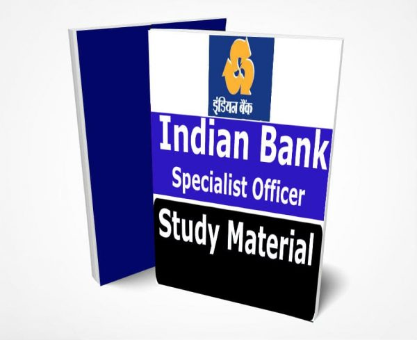 Indian Bank Specialist Officer Study Material Notes -Buy Online Full Syllabus Textbook SO
