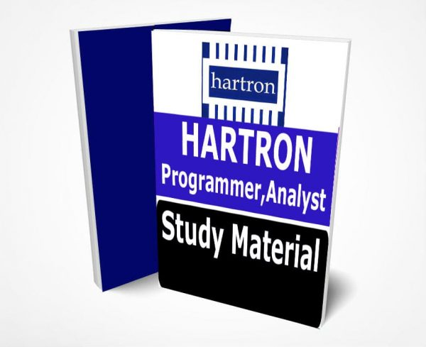 HARTRON Limited Junior Programmer Study Material Notes -Buy Online Full Syllabus Text Book, System Analyst