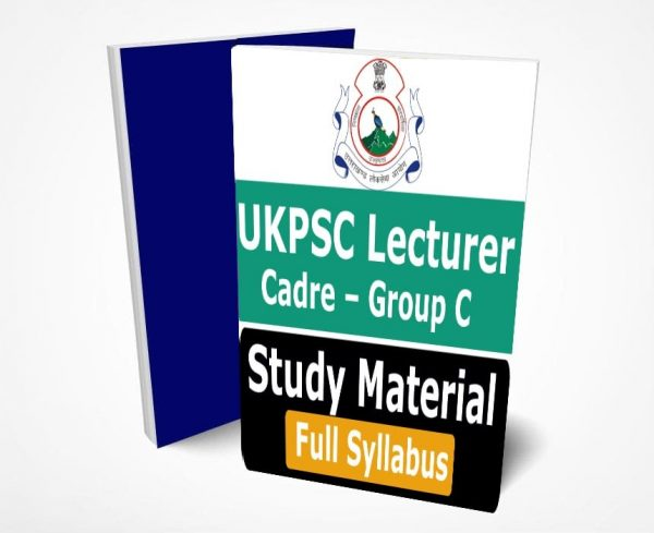 UKPSC Lecturer Study Material Notes