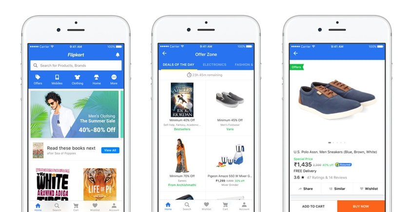 Mobile commerce app examples