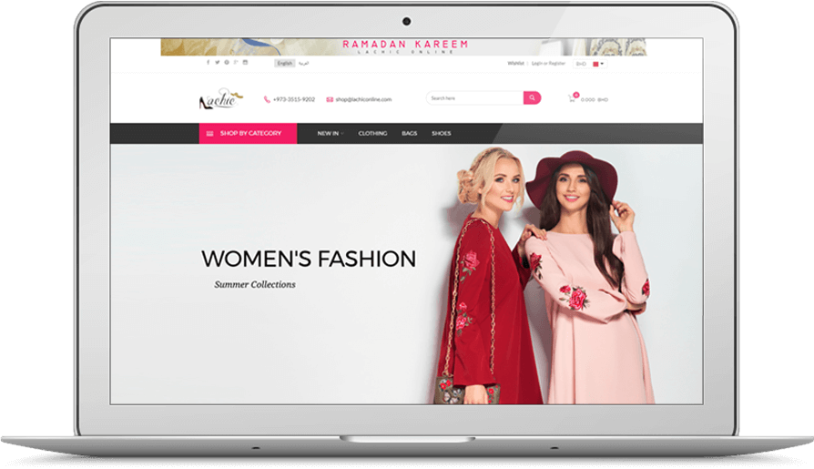 Women Fashion eCommerce Website Development