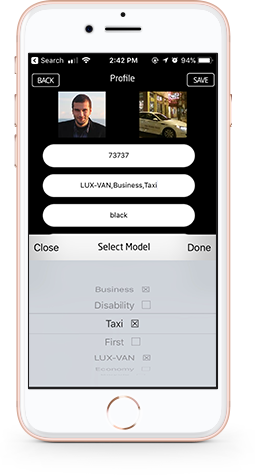 multi-model-selection for taxi booking app