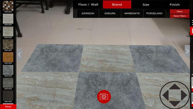augmented reality flooring app