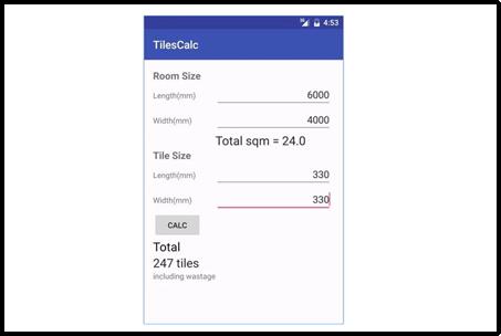 Tile-Calculator app