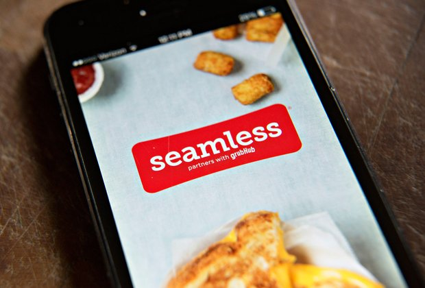 Seamless app for delivery food