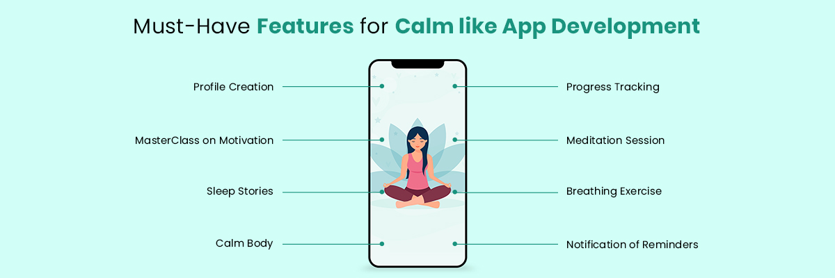 Features for Calm like App Development