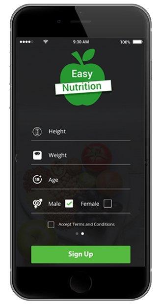 Nutrition Counter App