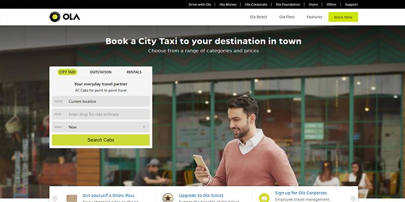 Ola Ride-sharing App