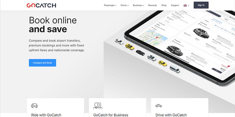 Gocatch On-Demand Taxi App Service