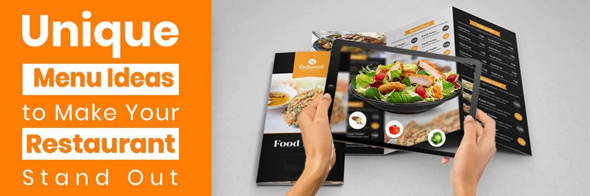 Top Restaurant Menu Ideas