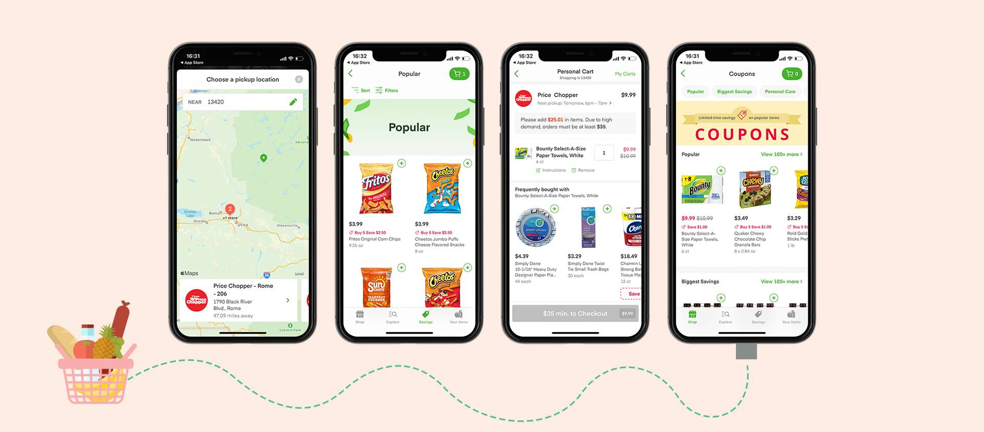 Screenshots of the Grocery DeliveryApp
