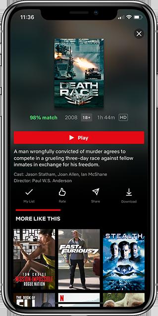Netflix App Screenshots