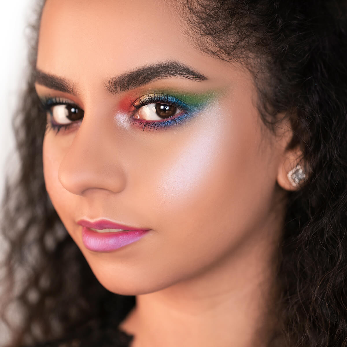 Rainbow Eye Makeup Look, Makeup Tutorial