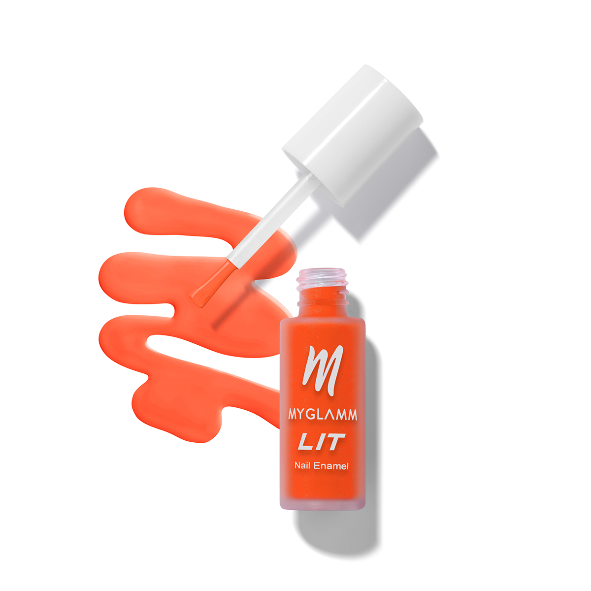Buy LIT Matte Nail Paint Online In Neon Coral Shade