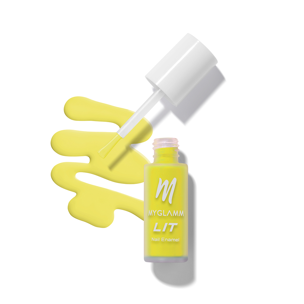 Buy LIT Matte Nail Paint Online In Neon Yellow Shade