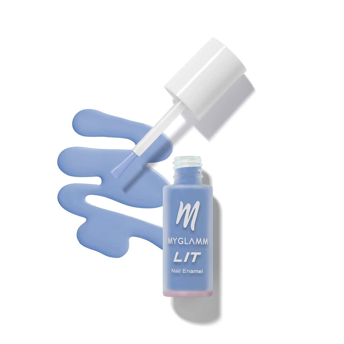 Buy LIT Matte Nail Paint Online In sky blue Shade
