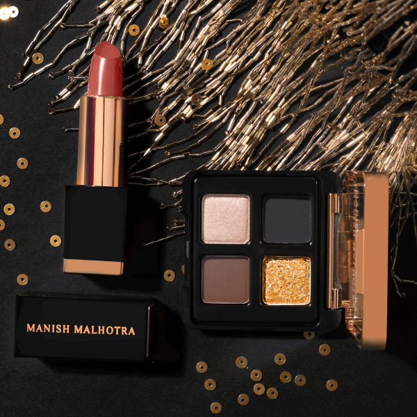 Manish Malhotra 4 in 1 Eyeshadow Palette & Hi-Shine Lipstick