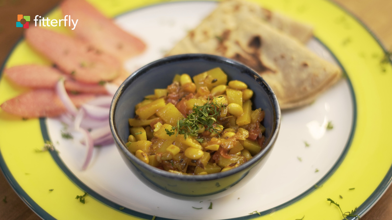 Soy Bean Potato Dry Vegetable