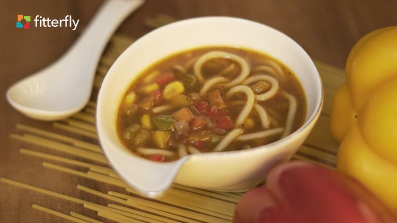 Mix Vegetable Noodles Clear Soup