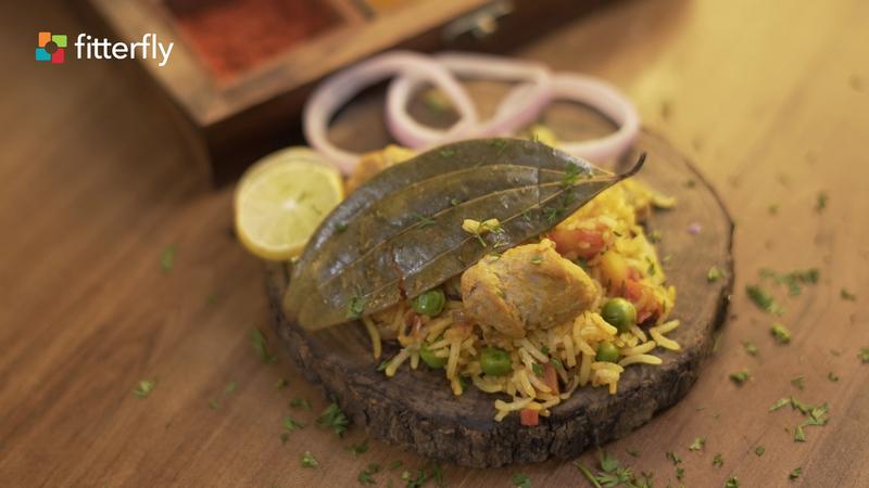 Soya Chunks and Vegetable Rice