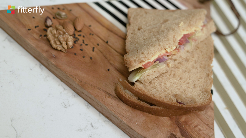 Whole Wheat Vegetable Cheese Sandwich