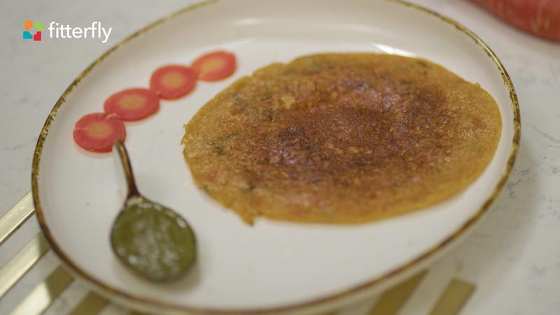 Rajgeera Dosa With Mint Chutney