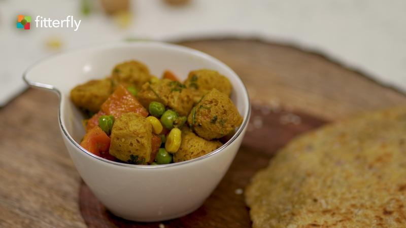 Soyabean Chunks Masala Dry Vegetable