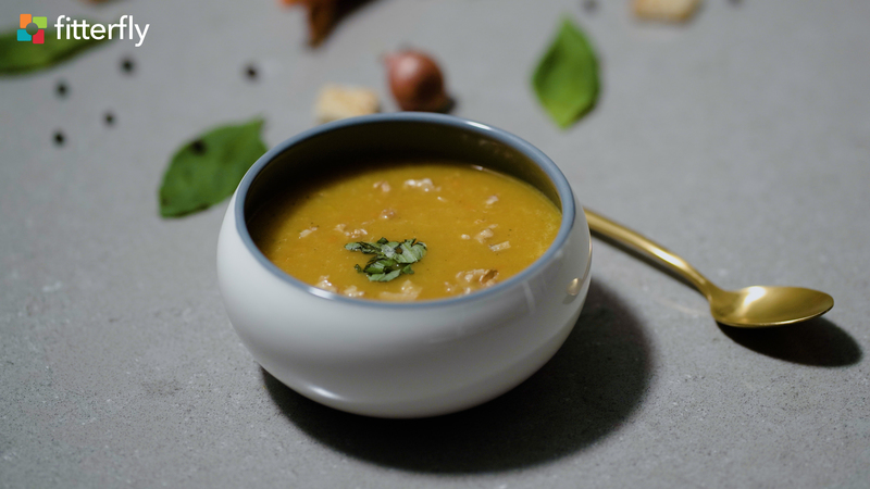 Carrot Potato Apple Thick Soup With Oil