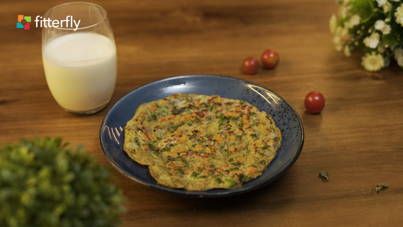 Vegetable Egg Omelette And Milk