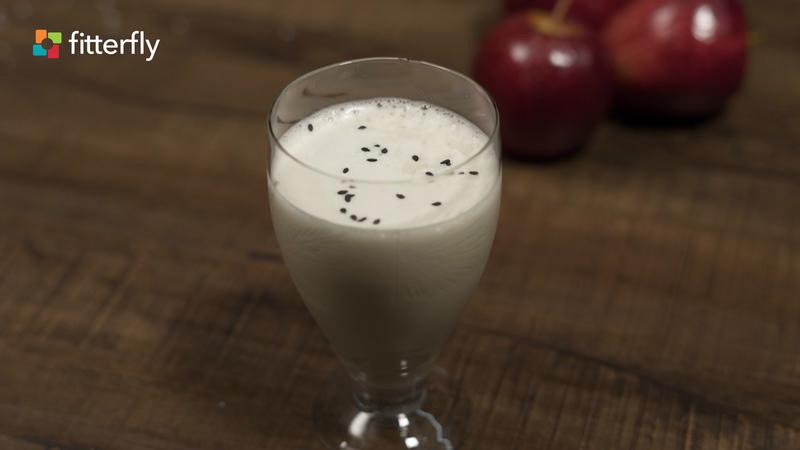 Apple Milkshake With Soy Milk