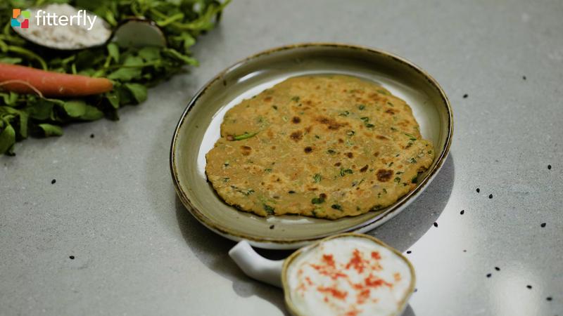Carrot Methi Paratha