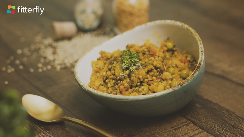 Vegetable Bajra Dal Khichdi With Oil