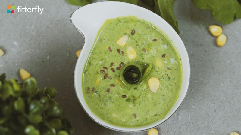 Cucumber Spinach Corn Raita