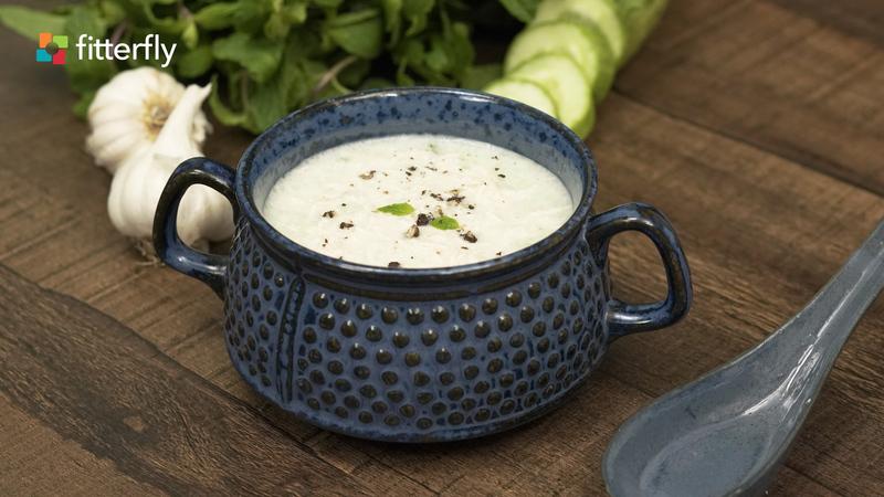 Cold Cucumber Tofu Soup