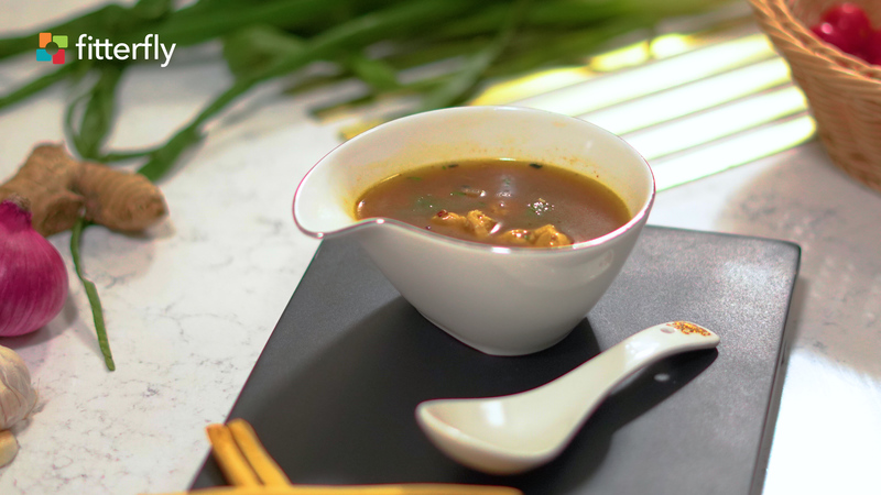 Chicken Thick Soup With Butter