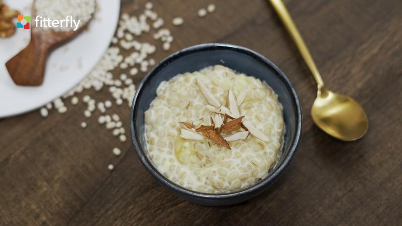 Apple Barley Porridge Without Sugar