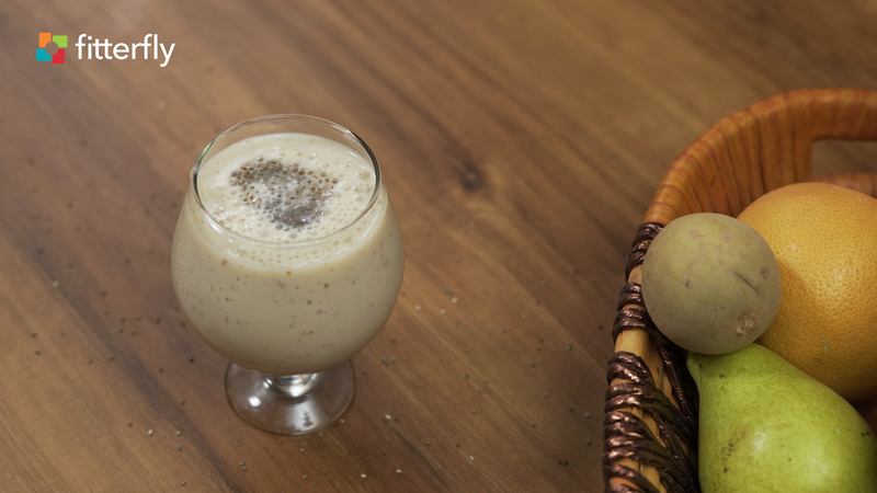 Mixed Fruit Soy Milk Smoothie With Honey