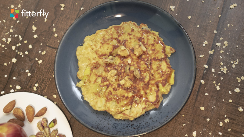 Oats Apple Pancake With Butter