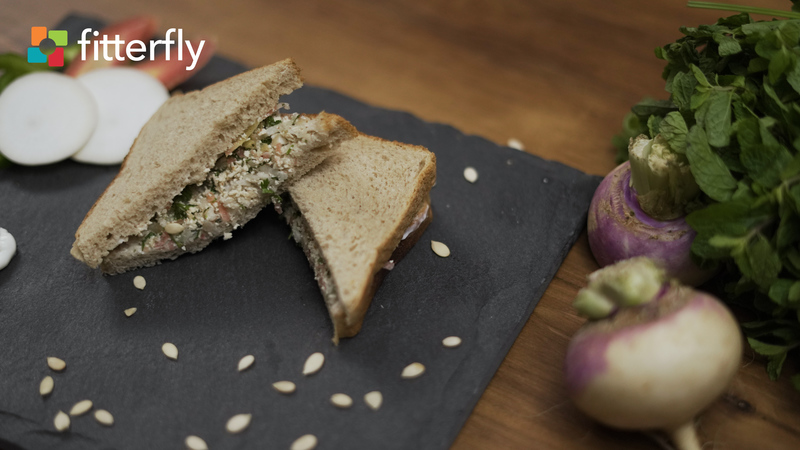 Tofu Turnip Sandwich