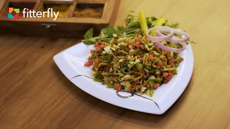 Shredded Chicken Tikka Salad