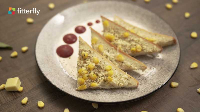 White Bread Cheese Corn Toast
