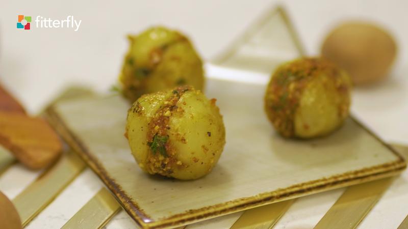 Stuffed Potato Dry Vegetable With Peanuts