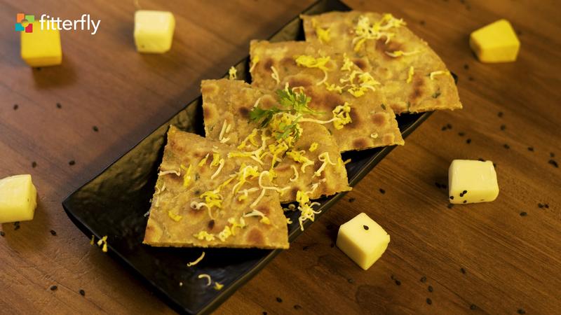 Pumpkin Tofu Stuffed Paratha
